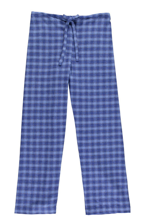 Brushed Tartan Pyjama Ttrousers (tltf) - Fellside Blue | Bonsoir of London