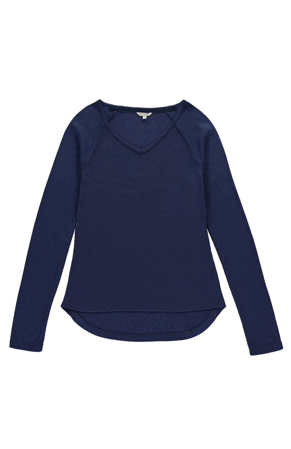 Pointelle Raglan Sleeve Top (lkpr) - Midnight