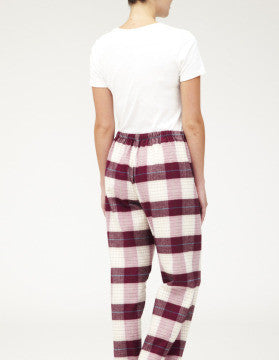 BRUSHED TARTAN PYJAMA TROUSERS - BRAESIDE | Bonsoir of London
