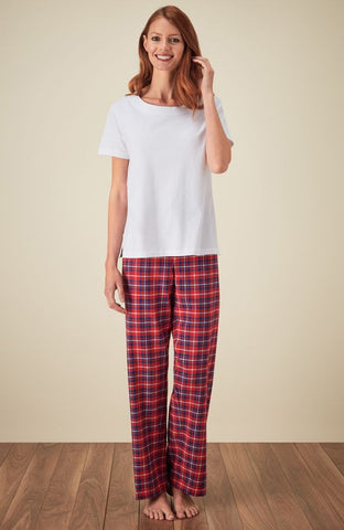 Brushed Cotton Grandad Nightshirt (tllg) - Highland Plaid