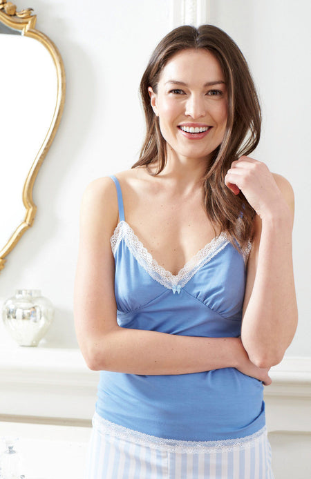 Camisole Top (lkcb) - Cornflower Blue | Bonsoir of London