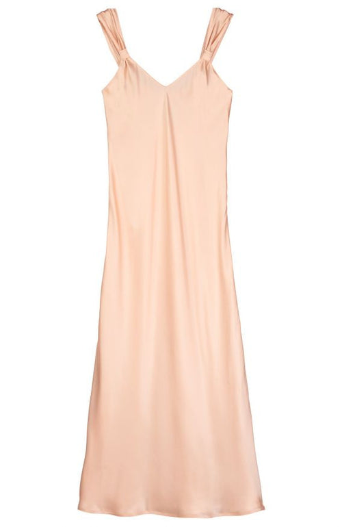 VINTAGE STYLE SILK NIGHTDRESS - CORAL