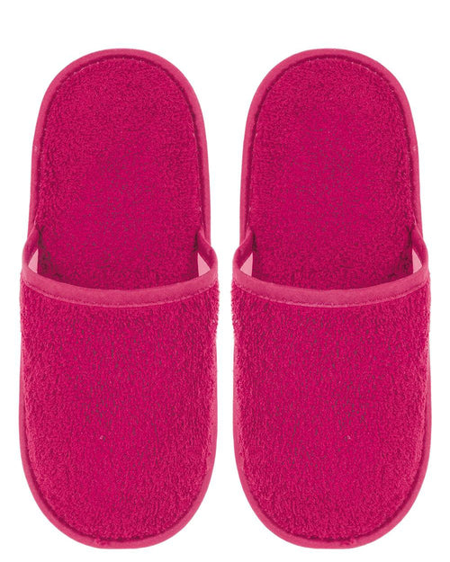 Towelling Slippers (lsts) - Fuchsia