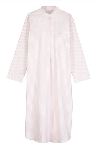 Brushed Pastel Gown (bldg) - Blue Stripe
