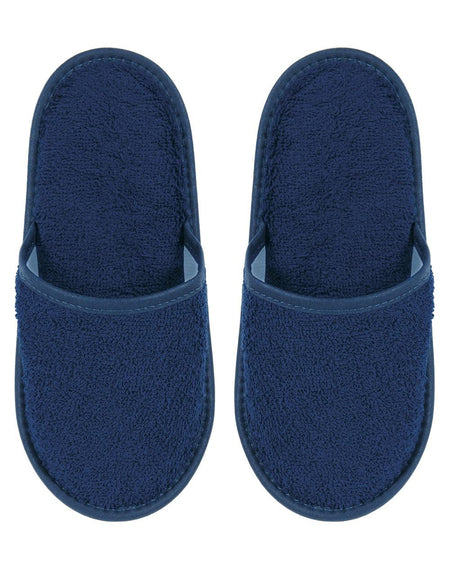 Cotton Towelling Slippers - Midnight
