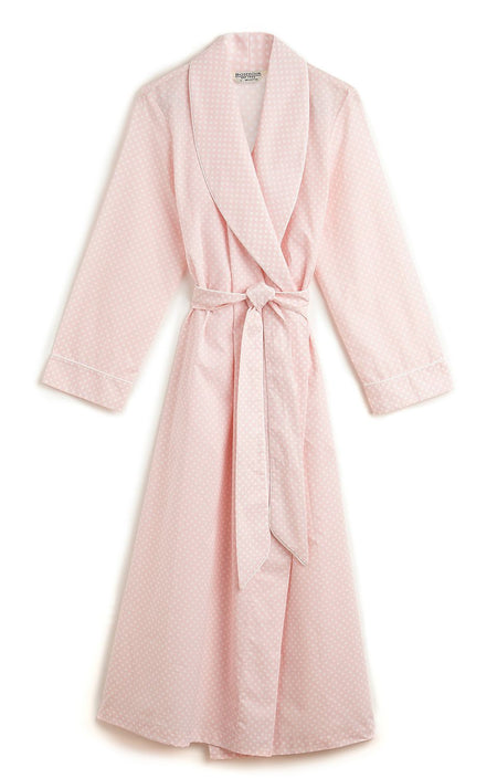 Cotton Gown (clfg) - Pink Polka Dot | Bonsoir of London
