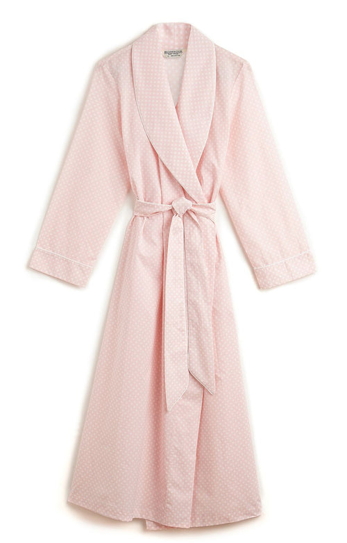 CLASSIC COTTON GOWN - PINK POLKA DOT | Bonsoir of London
