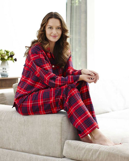 Women's Brushed Cotton Pyjamas - Lismore Plaid