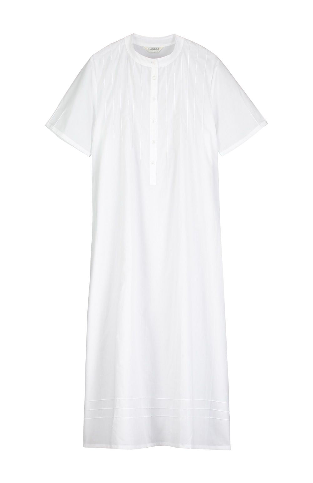 Women's Victoria Short Sleeve White Nightdress | Bonsoir of London