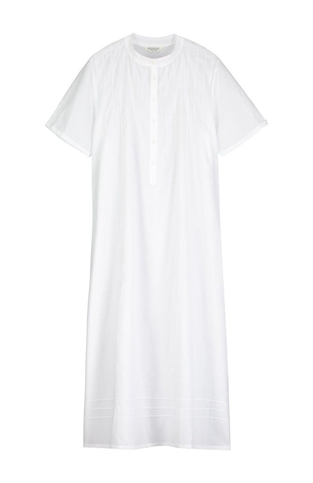 Victoria Short Sleeve White Nightdress | Bonsoir of London