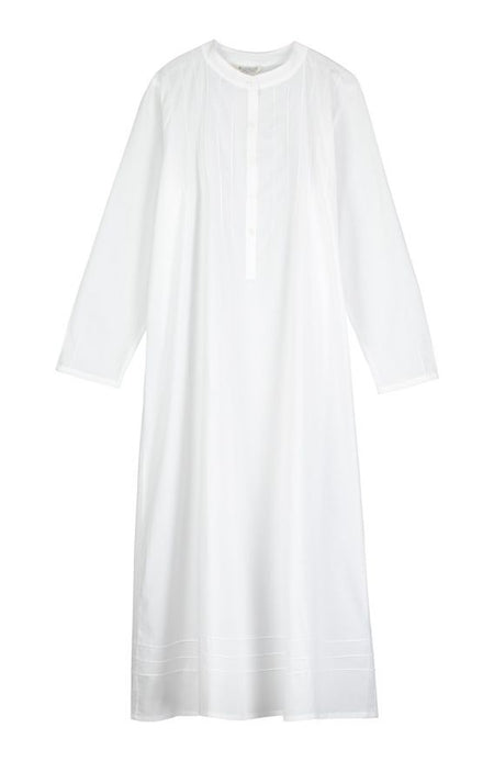 Victoria Long Sleeve White Nightdress | Bonsoir of London