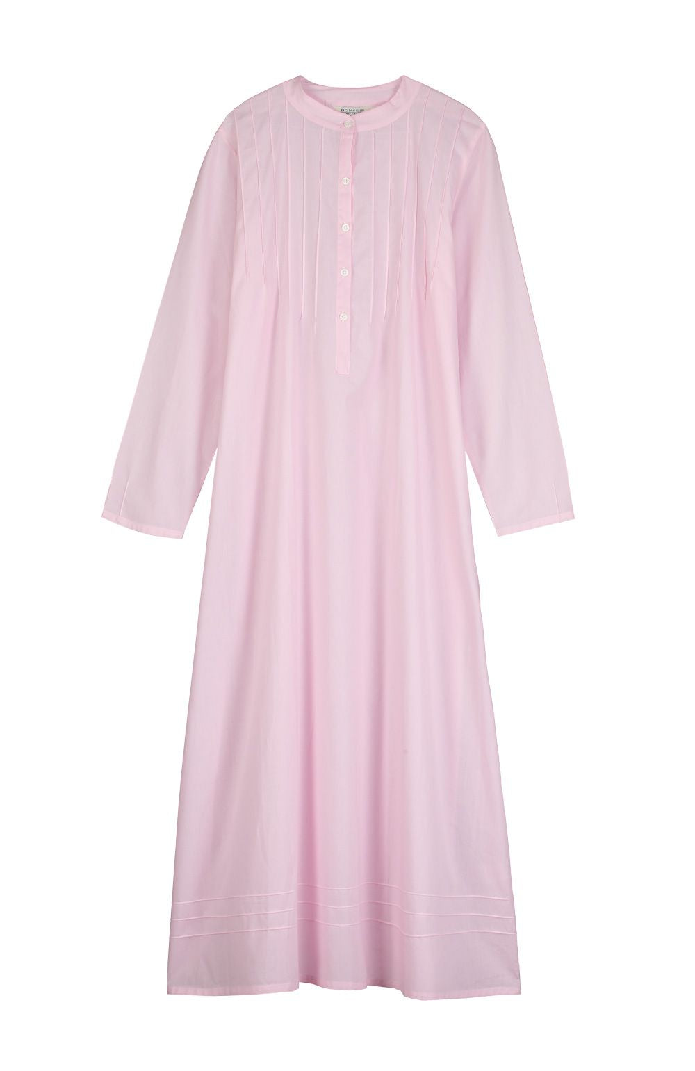 Women's Victoria Long Sleeve Pink Nightdress | Bonsoir of London