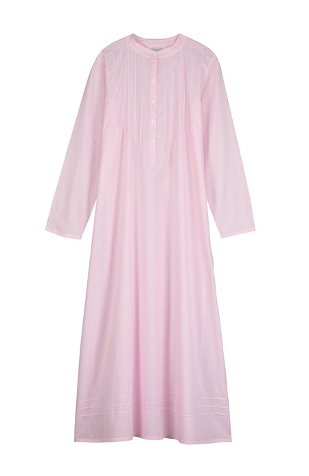 Victoria Long Sleeve Pink Nightdress | Bonsoir of London