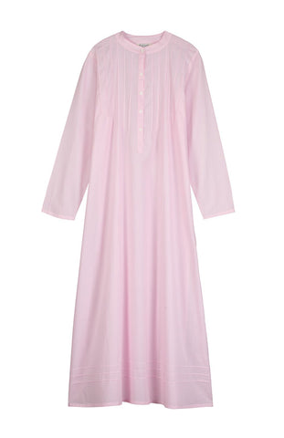 Victoria Long Sleeve Nightdress (3532) - White