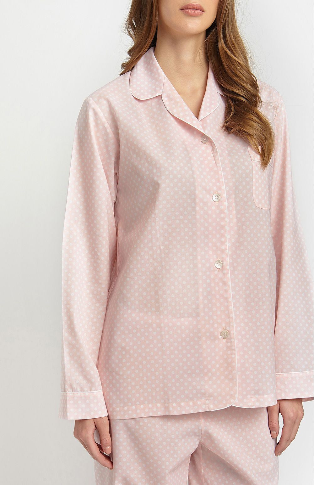 Cotton Pyjamas (clfp)  -  Pink Polka Dot | Bonsoir of London