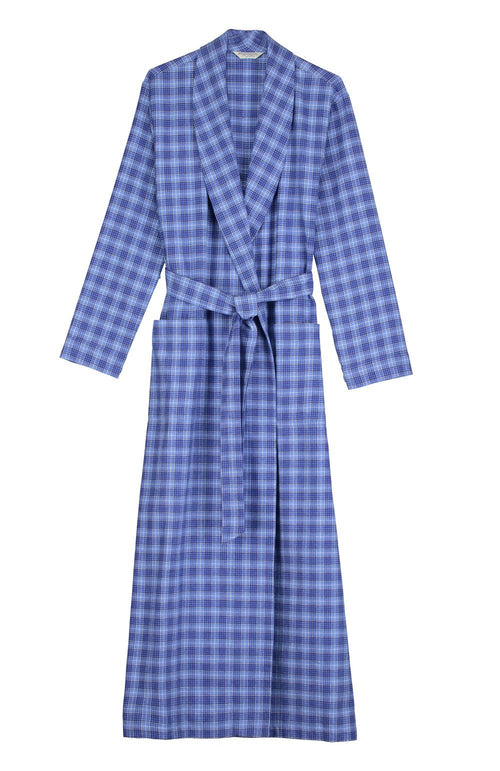Brushed Tartan Gown (tldg) - Fellside Blue | Bonsoir of London