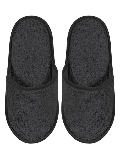 Towelling Slippers (lsts) - Charcoal