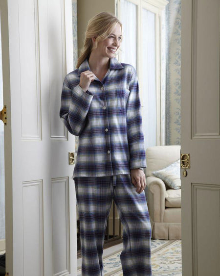 Women's Brushed Cotton Pyjamas - Iona