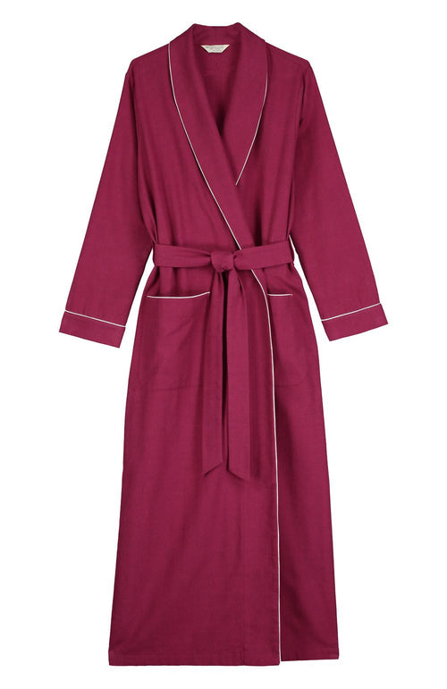 Brushed Tartan Gown (tldg) - Mulled Wine | Bonsoir of London