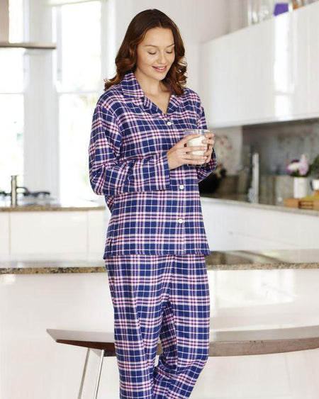 Women's Brushed Cotton Pyjamas - Isla