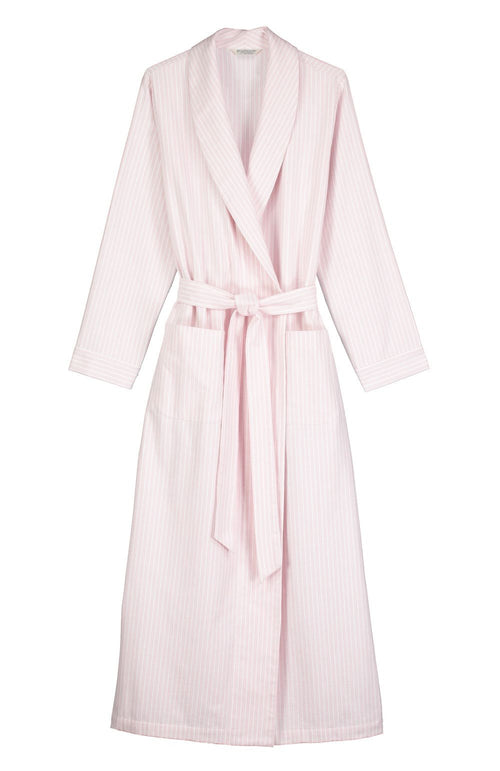 Brushed Pastel Gown (bldg) - Pink Stripe | Bonsoir of London