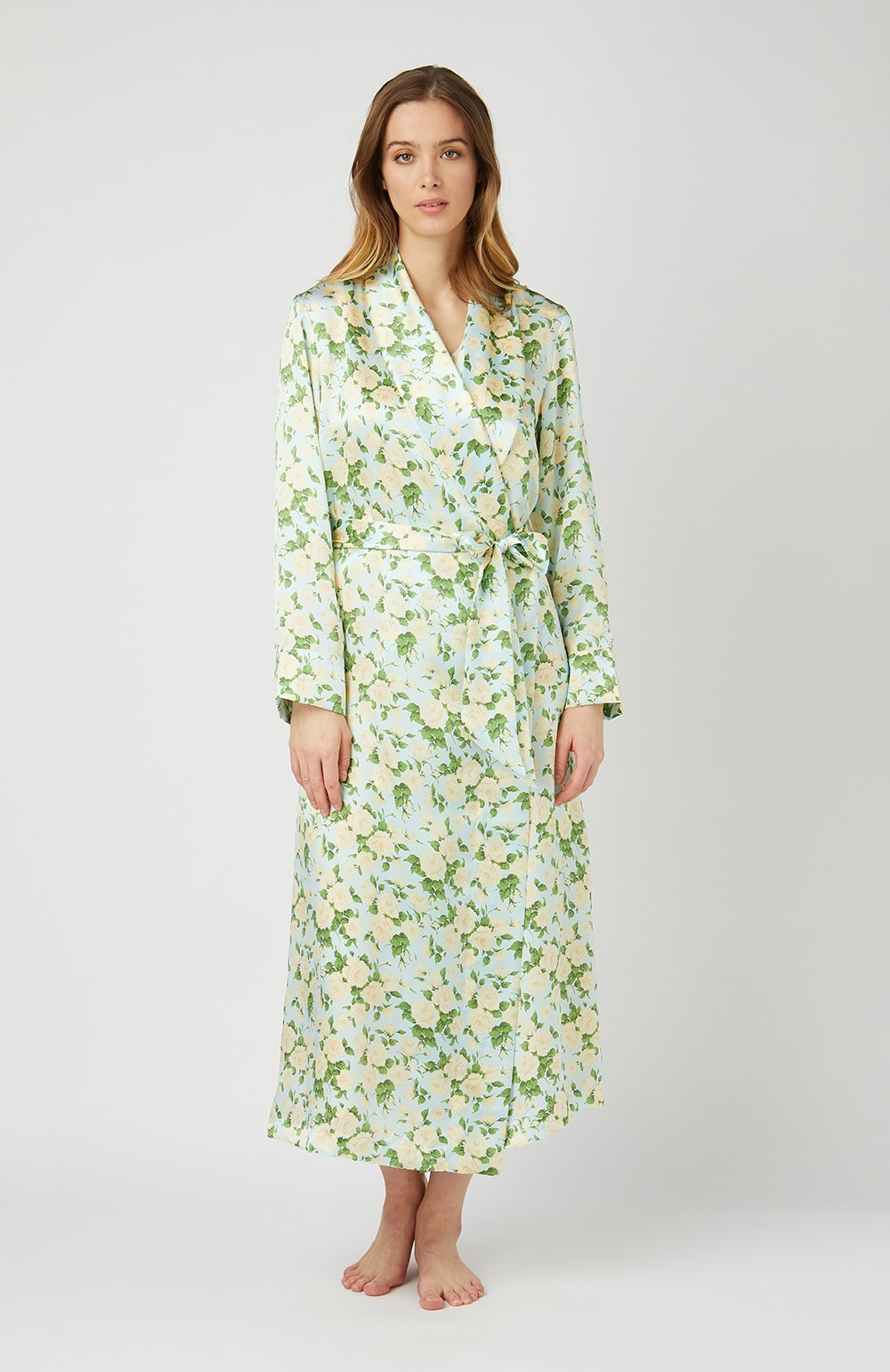 Liberty Print Silk Bathrobe - Full