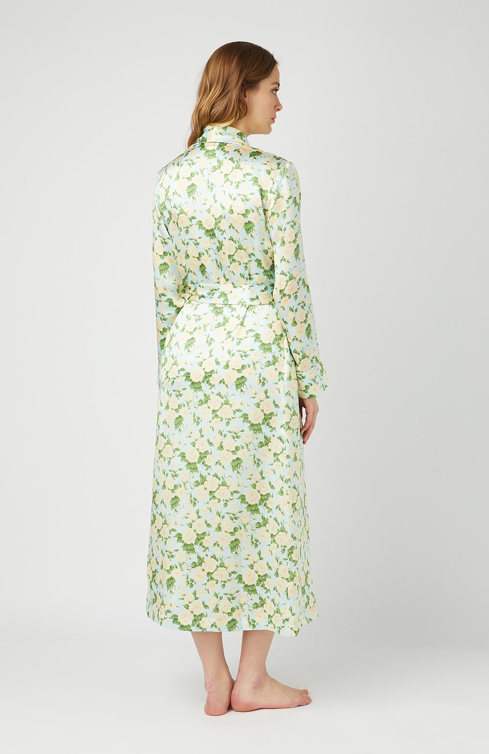 Liberty Print Silk Bathrobe - Back
