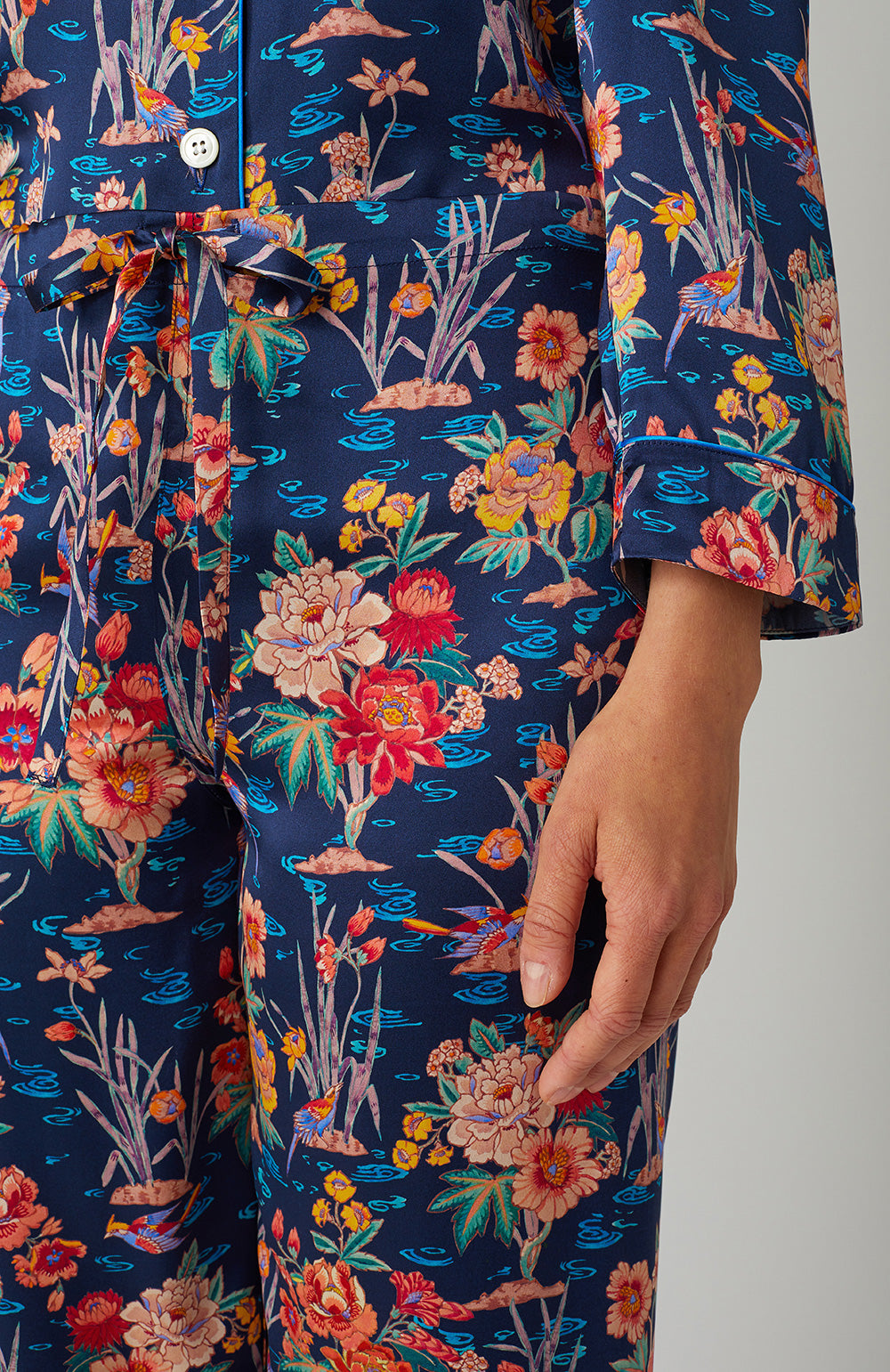 Luxury Silk Ada Pyjamas | Bonsoir of London