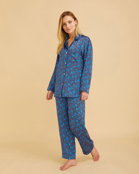 Women's Silk Pyjamas – Electra | Bonsoir of London