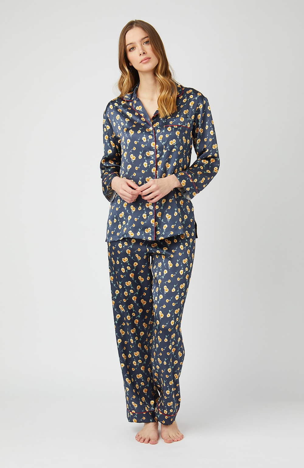 Liberty Print Silk Pyjamas - Full