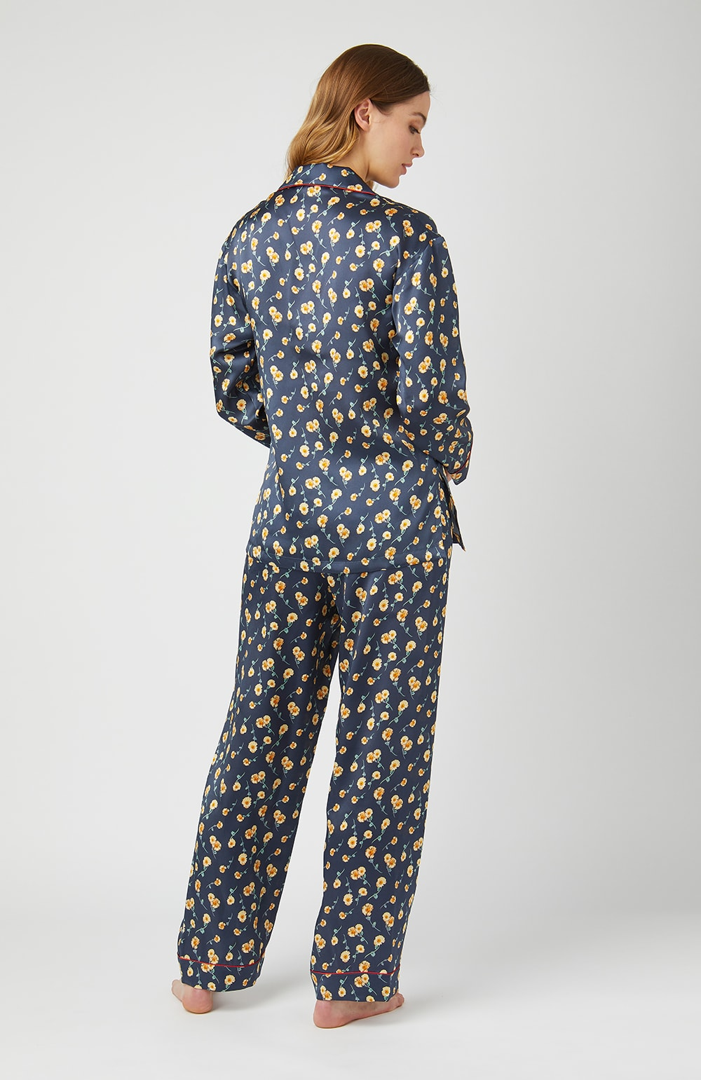 Liberty Print Silk Pyjamas - Back