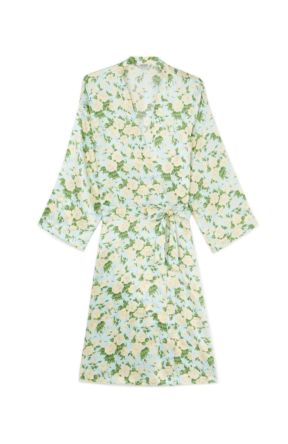 Yellow and Green Silk Robe