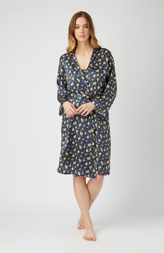 Women's Classic Cotton Dressing Gown (Cldg) - Willow Flower