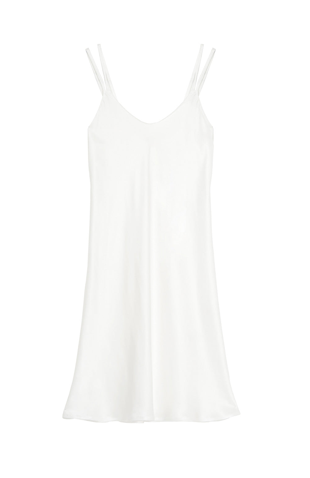 Women's Luxury Ivory Silk Short Nightdress | Bonsoir of London