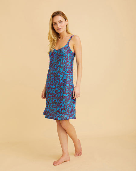Women's Short Silk Nightdress - Electra | Bonsoir of London