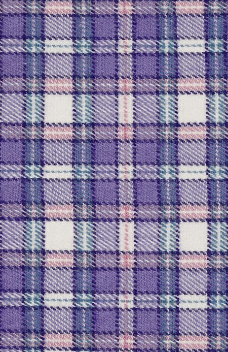 BRUSHED TARTAN GRANDAD NIGHTSHIRT - IRIS | Bonsoir of London