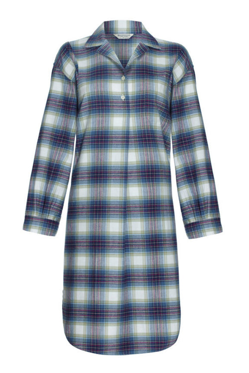 BRUSHED TARTAN NIGHTSHIRT - IONA | Bonsoir of London