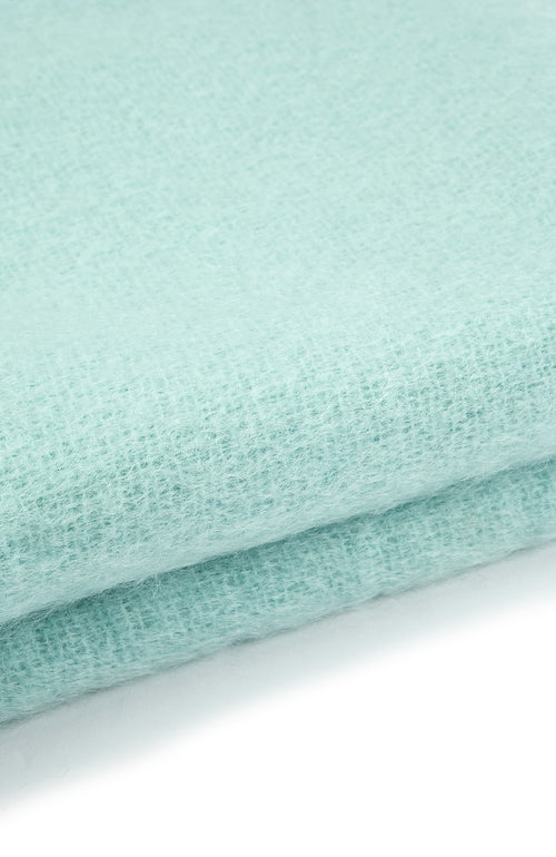 Mohair Throw (6b08) - Aqua