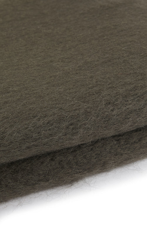Mohair Throw (6b08) - Charcoal
