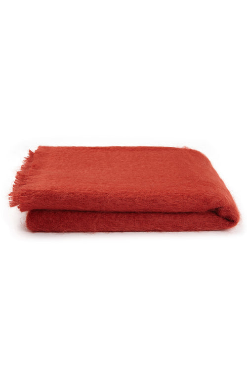 Mohair Throw (6b08) - Red