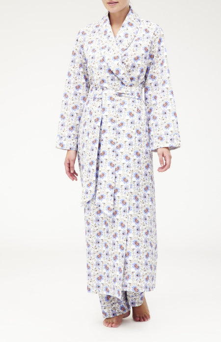 Classic Cotton Gown (clfg) - Floribunda Mauve | Bonsoir of London