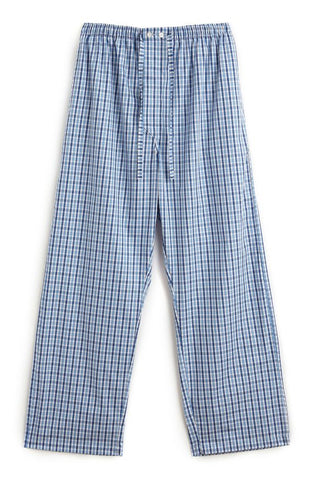 Brushed Cotton Pyjama Trousers (jm54) - Navy Herringbone
