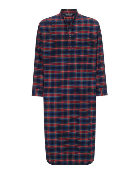 Brushed Cotton Grandad Nightshirt (jmnl) - Allander | Bonsoir of London