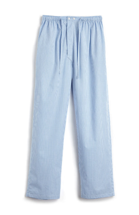 Men's Sky Gingham Classic Pyjama Trousers | Bonsoir of London