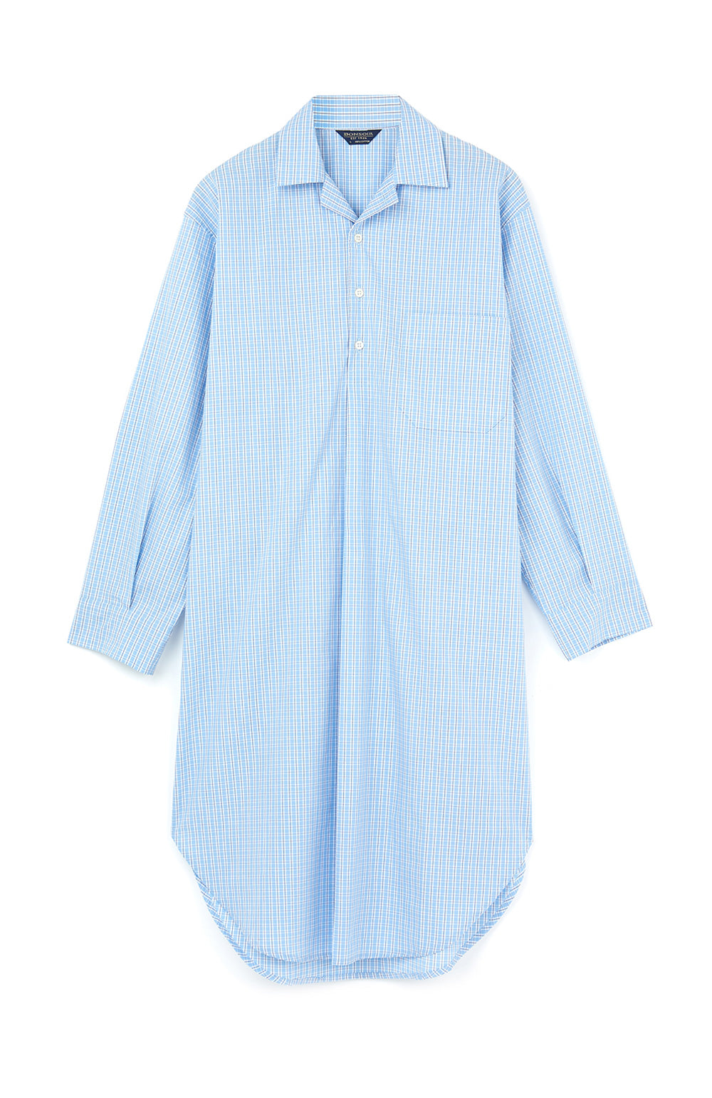 f9d6fa398a Heritage Luxury Nightshirt in blue check