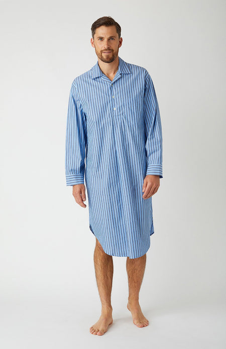 Men's Classic Nightshirt in A265 | Bonsoir of London