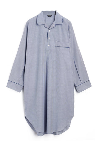 FRENCH PLEAT SHORT SLEEVE NIGHTDRESS (3111) - AQUA