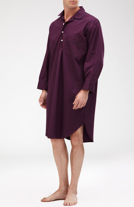 Essential Nightshirt (emnm) - Aubergine | Bonsoir of London