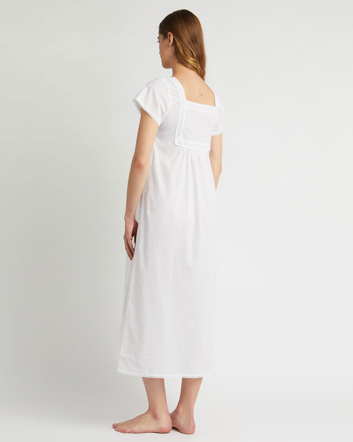 Women's Anna Cotton Nightdress - White