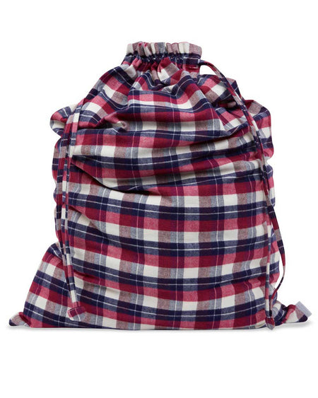 Brushed Cotton Multi Check Laundry Bag | Bonsoir of London